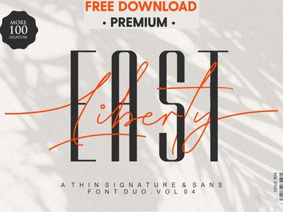 FREE Download - East Liberty | Thin Signature & Sans