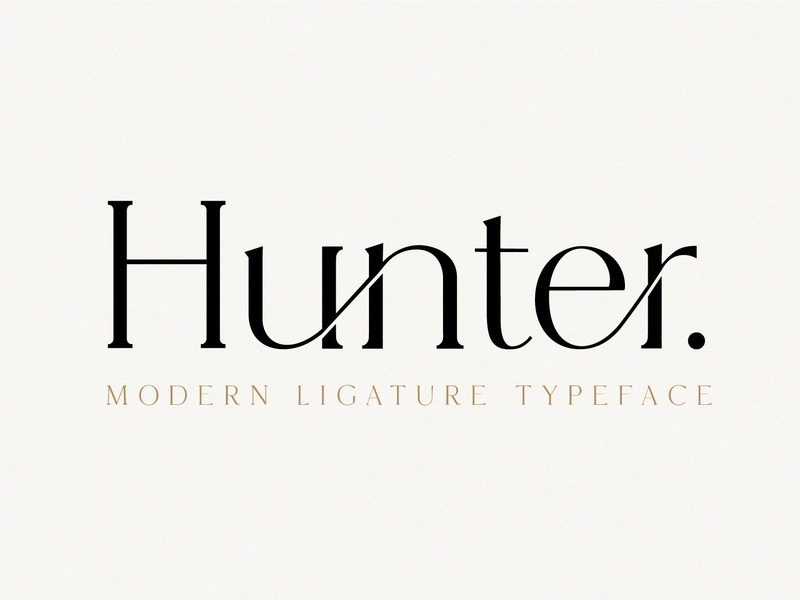 Hunter - Serif Ligature Font by Fonts Collection on Dribbble