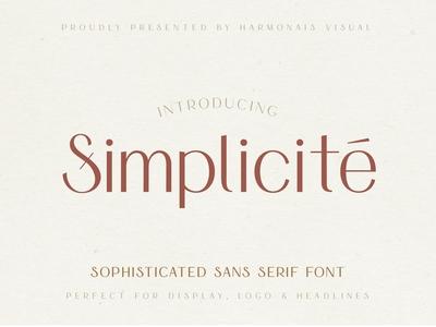 Simplicite' - Simple & Elegant Font