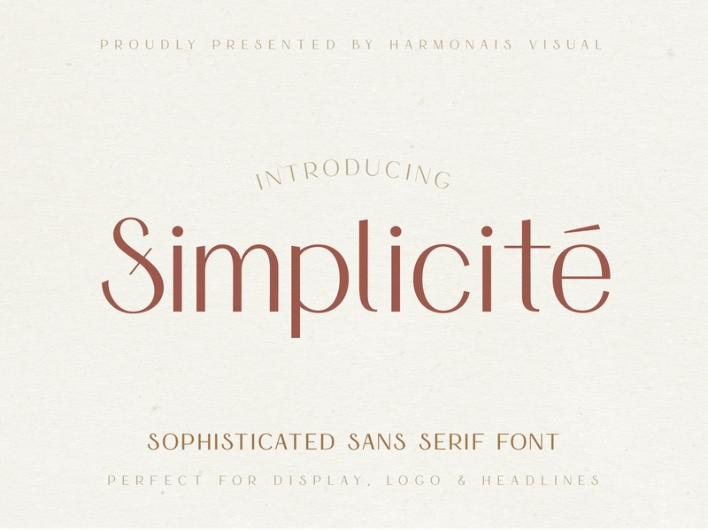 Simplicite' - Simple & Elegant Font by Fonts Collection on Dribbble