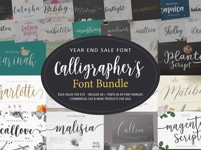 Calligrapher's Font Bundle (98%Off)