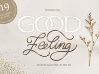 Good Feeling. Modern DUO Font.