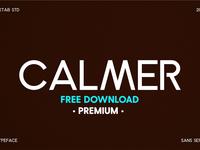 FREE Premium Download - Calmer Font Family