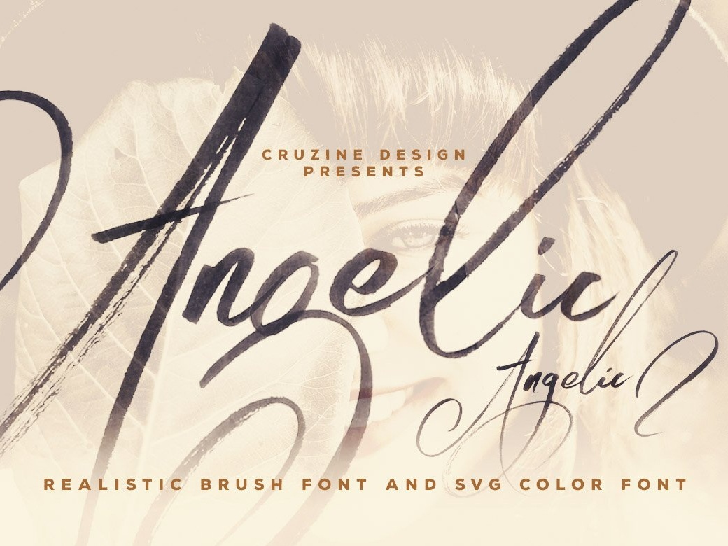 Angelic brush font 01