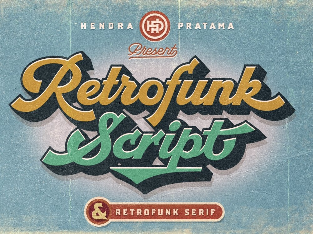 Retrofunk - Script & Serif by Fonts Collection on Dribbble