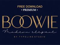 FREE Download - Boowie || Modern minimalist elegant.
