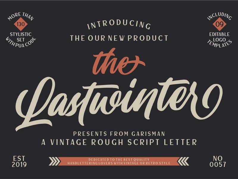 The Lastwinter - Vintage Script by Fonts Collection on Dribbble