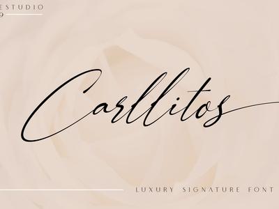 Carllitos // Luxury Signature Font