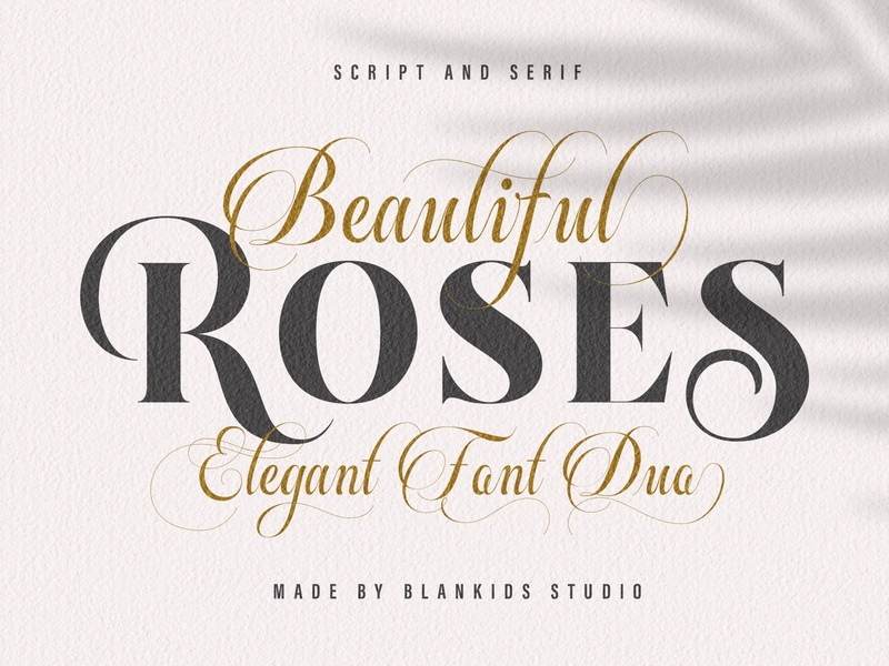 Beautiful Roses - Font Duo by Fonts Collection on Dribbble