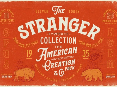 Stranger Font Collection + Extras