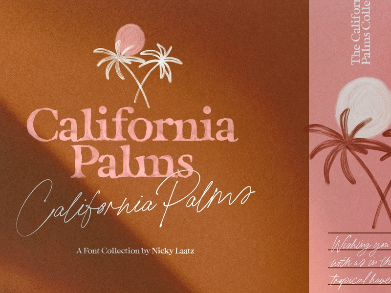 California Palms Fonts & Graphics font typography branding fancy fonts fancy bold fonts elegant fonts painted fonts love fonts cool fonts vibes font duo fonts collection font collection summer fonts summer graphics fonts palms fonts palms