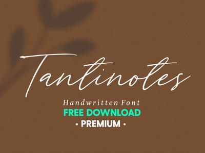 Free Premium Download - Tantinotes - Handwritten Font