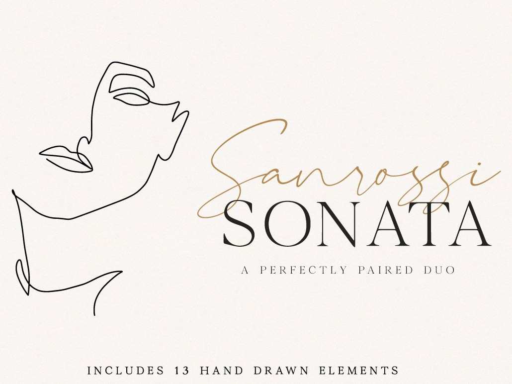 Sanrossi Sonata Duo by Fonts Collection on Dribbble