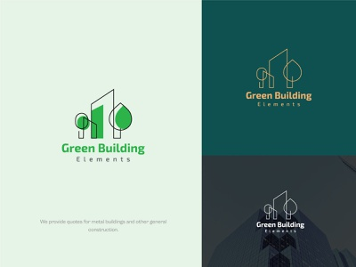 Green Building Logo. building logo flat minimalist mortage logo design graphic design logo maker design clean modern minimal real state house green building branding logo