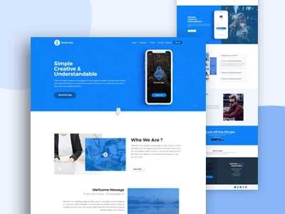 App Landing Page (concept) mobile app graphics design uiux modern clean app