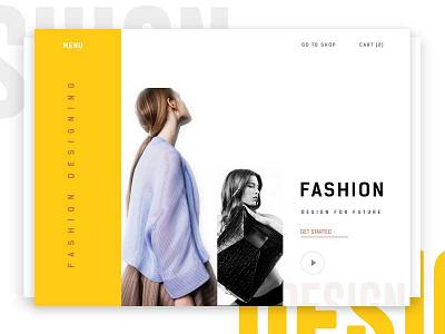 Fashion design website template (Concept) yellow uiux. design graphics landing page modern clean app fashion