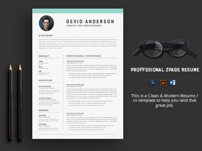 Premium 2Page Resume/CV.