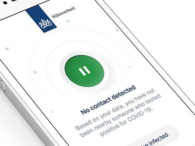 COVID-19 Contact Tracing App clean radar skeumorphism neumorphism corona covid-19 mobile ui app