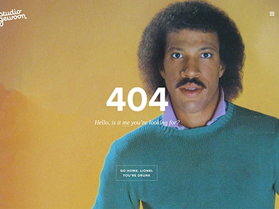 Our new 404 page 404 error hamburger