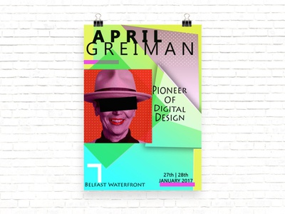 April Greiman Exhibition Poster