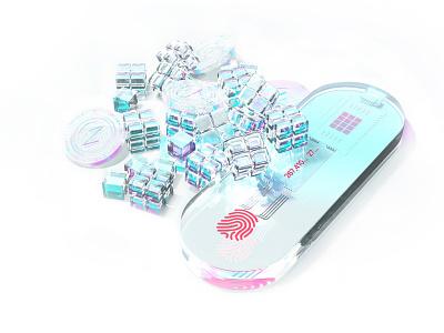 Hodler | Hardware cryptocurrency wallet concept concept cinema4d cg ethereum coin crypto wallet crypto branding bitcoin smart future white creative design