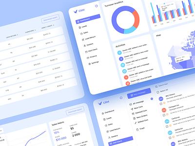 VAC | CRM Detail management app webdesign web clean crm future white smart blue app ui creative figma vector design