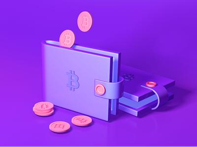 CryptoWhale | 3d illustration c4d cinema4d 3d creative illustration smart app design