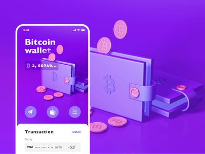 CryptoWhale | Microanimation principle cinema4d 3d animation smart future app ui ux branding illustration vector creative design