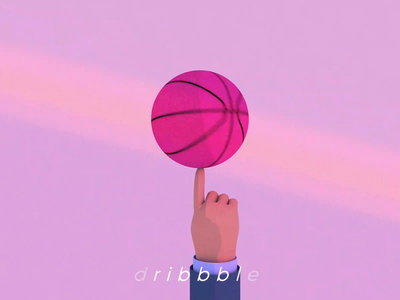 Dribbble illustration basketball ball hand like dribbble best shot dribbble motion design motion cinema 4d c4d abient light 3d illustration creative design