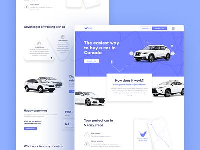 VAC | Website Detail animation user experience user inteface canada vehicle design vehicle identitydesign car development web interface ui ux branding white figma vector design