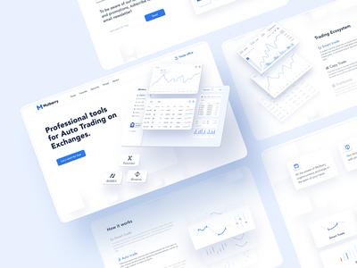 Mulberry | Cryptocurrency Trading Platform designs trade ux wallet bitcoin trading app trading light soft 3d blue white smart future app ui figma creative vector design