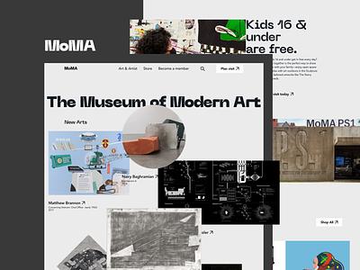 MoMA - The museum of Modern Art. branding ux typography museum art modern ui app figma creative vector design