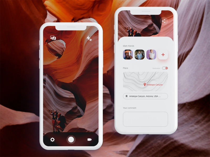 Photo Travel travelling travel app future smart mockup mobile app photography creative friends photo travel application app mobile service vector ux designer photoshop design ui