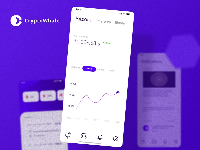 CryptoWhale | fragment service creative ui sketch figma vector app mobile tool mobile design ui8 crypto wallet blue design