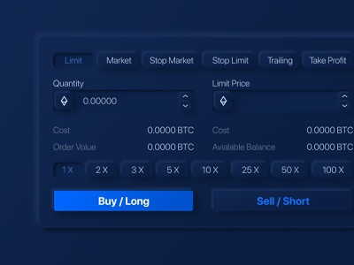Mulberry Trade tool btc ethereum clean fintech trading dark crypto trade smart exchange blue bitcoin future ui creative figma vector design