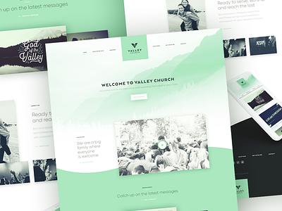 Valley Church Website graphic design homepage ui website church