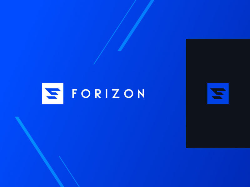 Forizon Logo typography branding blue graphic logo design car