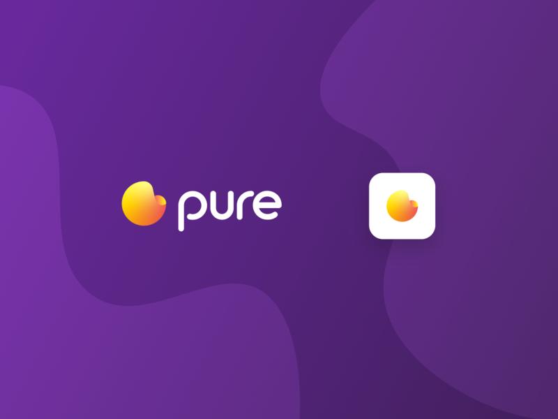 Pure Logo app icon branding vector logo typography graphic design