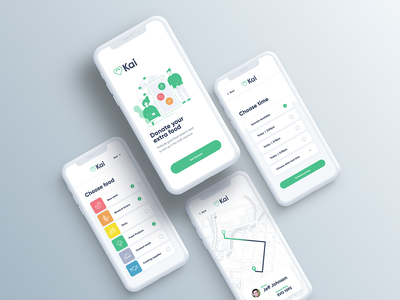 Kai App donation food mobile app ui design