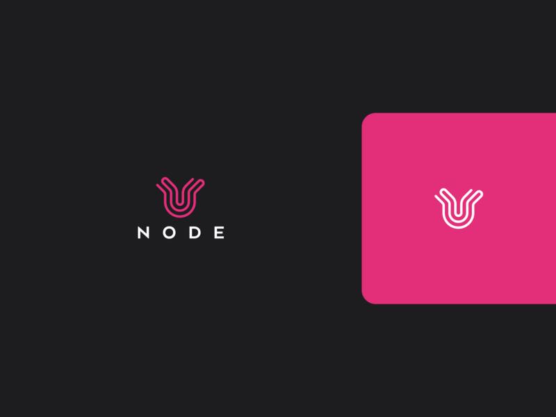 Node Logo line icon logo design music