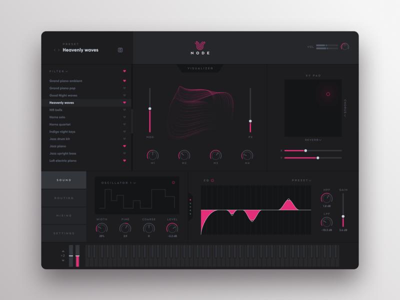 Node Music Interface interface app music app music ux design ui