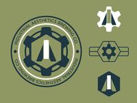 Industrial Aesthetics Brewing Badges