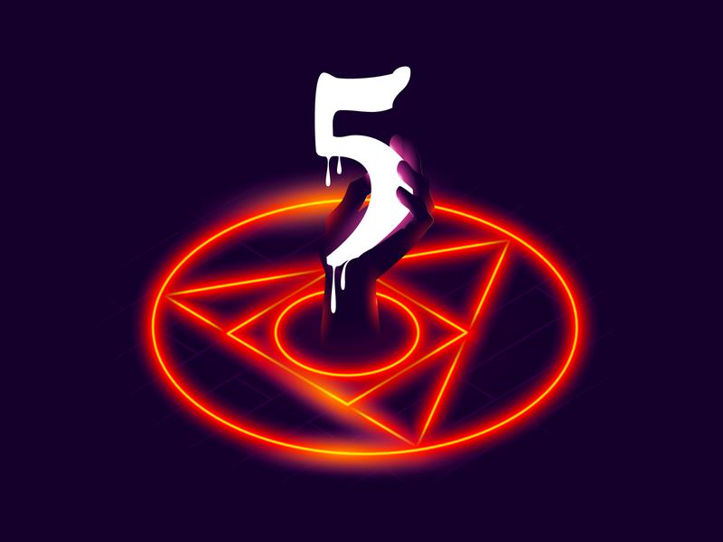 Five years of PostCSS hand demon pictogram devil 5 illustration postcss css