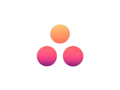 Sunset Asana logo screen print brand design brand illustration color sun symmetry purple pink orange gradient logo sunset