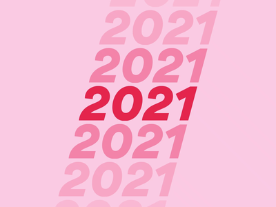 Happy New Year! color animation graphic typography happy new year 2021 happy new year principle loop animation 2020 design gradient color italic loop 2020 date new year scroll text numbers gradient ombre