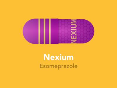 Nexium pill color sketch graphic pharmacy pills healthcare medicine