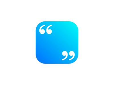 Quotes app quotes typography kepler ios app gradient graphic