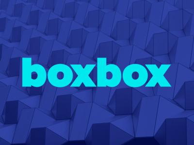 boxbox logo branding sans serif blue pattern logo brand