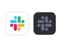Slack for Mac icons: light & dark