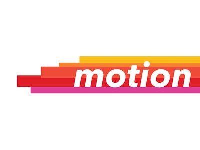 Motion logo minimalist sans serif motion color typography graphic illustration